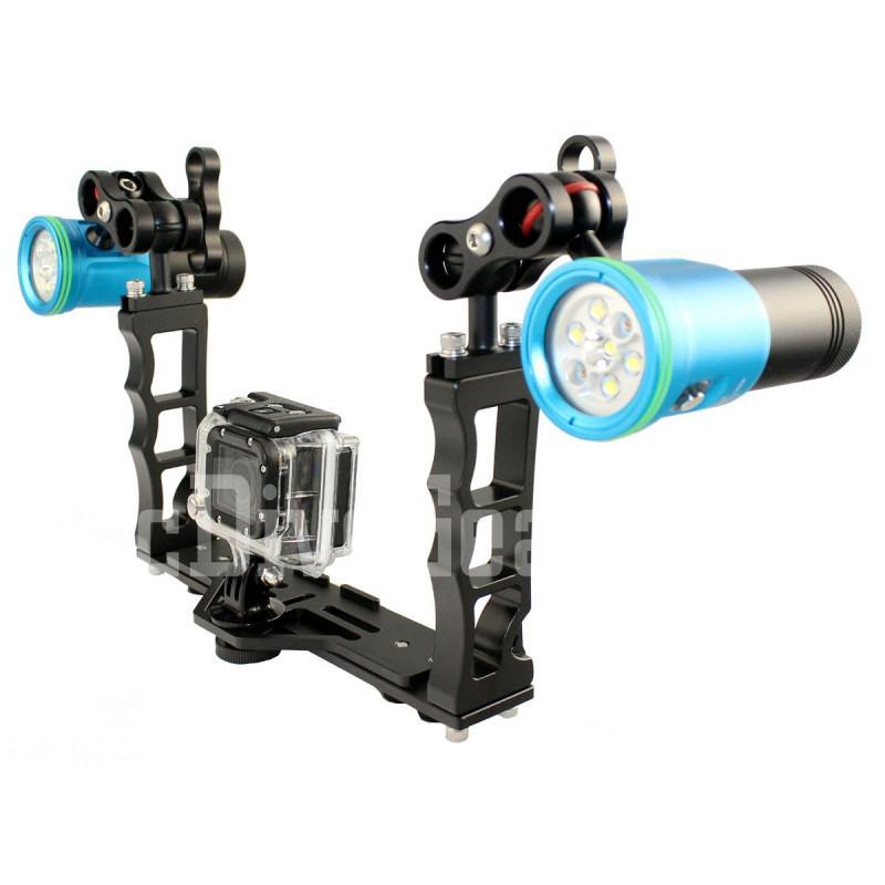 6400 Lm Scuba GoPro Camera Video Lights Set