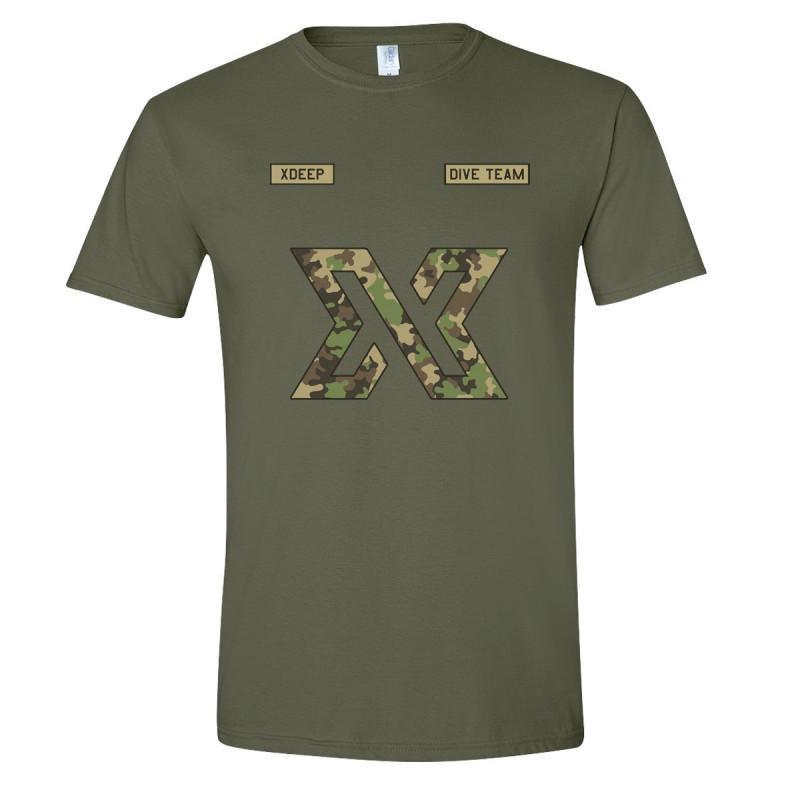 Unisex XDEEP Military Style Camouflage T-shirt