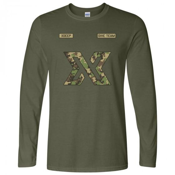 Unisex XDEEP Military Style Camouflage Long Sleeve Shirt