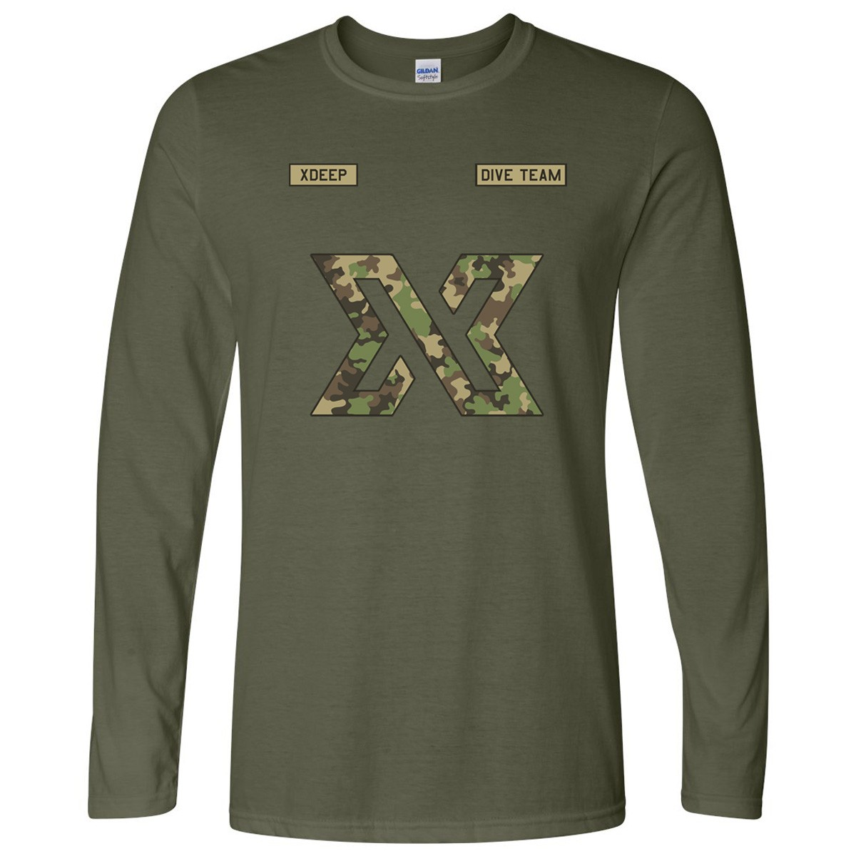 Unisex Xdeep Military Style Camouflage Long Sleeve Shirt Tec Dive