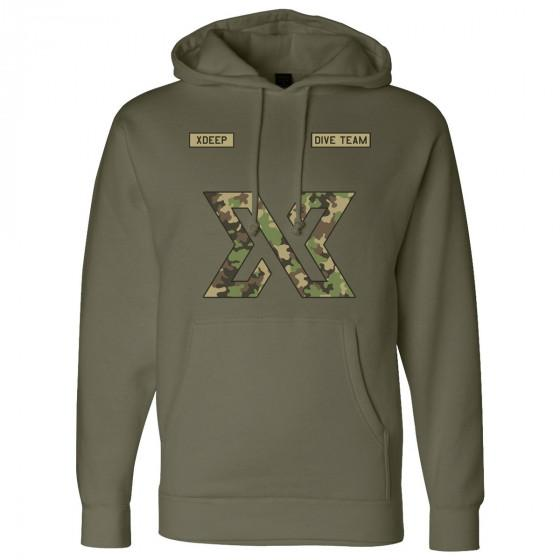 Unisex XDEEP Military Style Camouflage Hoodie