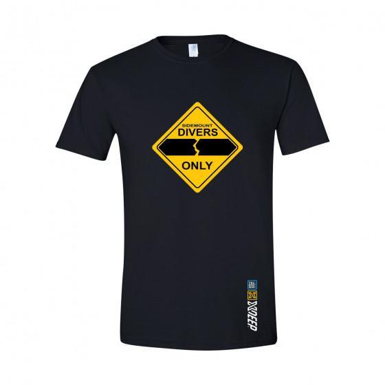 Sidemount Divers Only Scuba Diving T-shirt