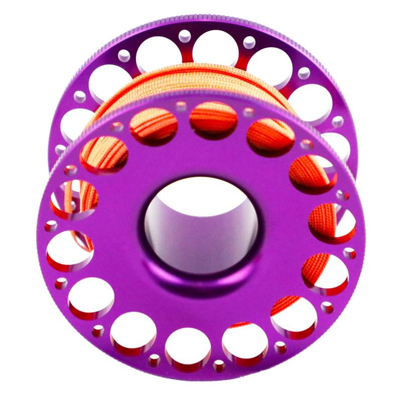 Purple Aluminum 100' Scuba Safety Jump Spool
