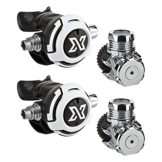 XDEEP TEC Two Regulator Set for Backmount Sidemount Scuba Diving NX700 LS200